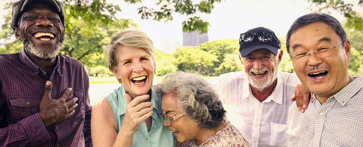 Older People Laughing